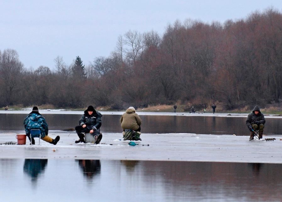 Рыбалка при ледоходе