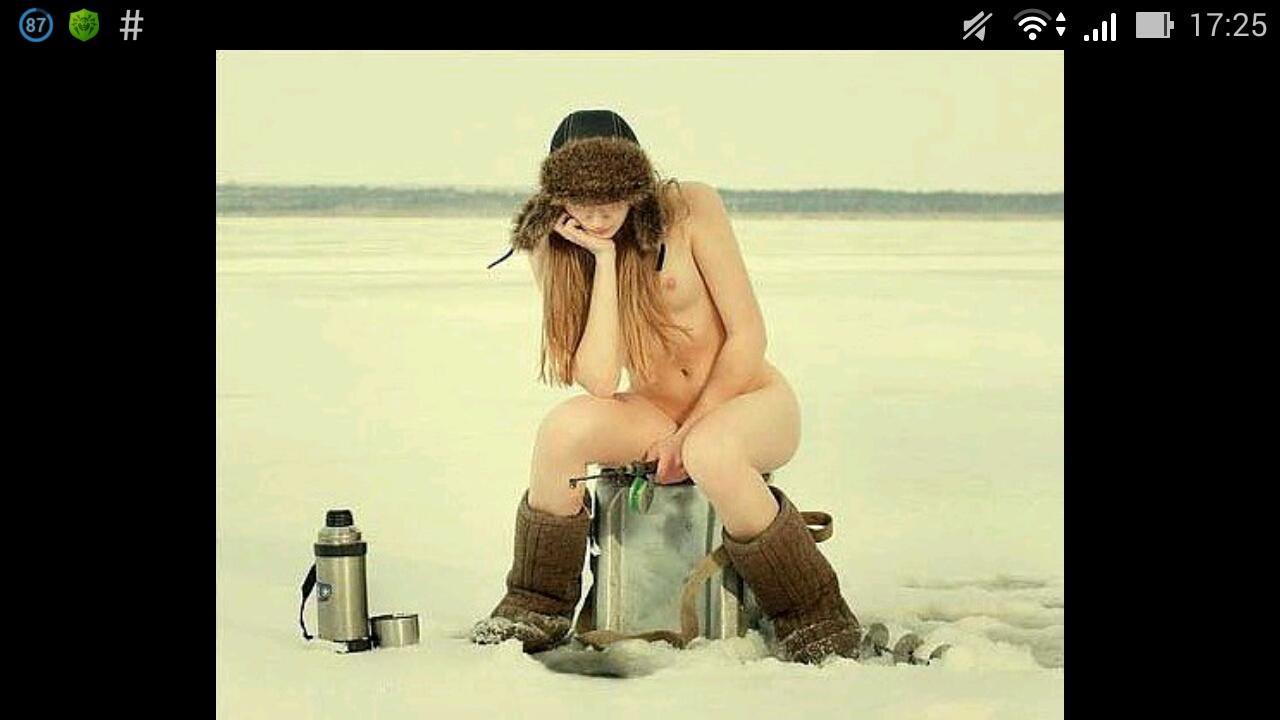 видео рыбалка зимой порно