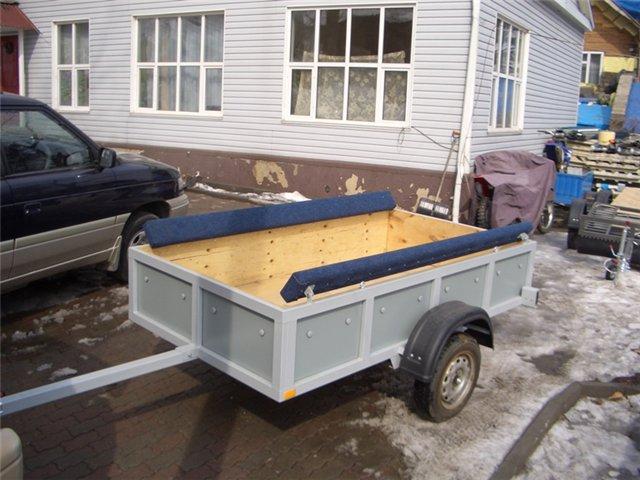 модернизация прицепа для перевозки лодок пвх