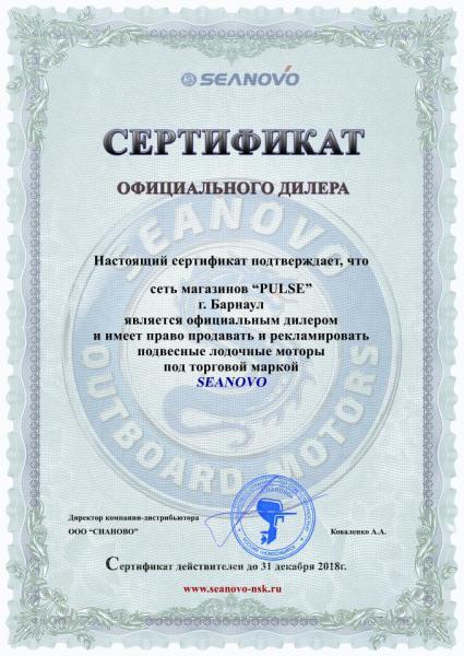Сертификат дилеру Сеть магазинов ПУЛЬС.jpg