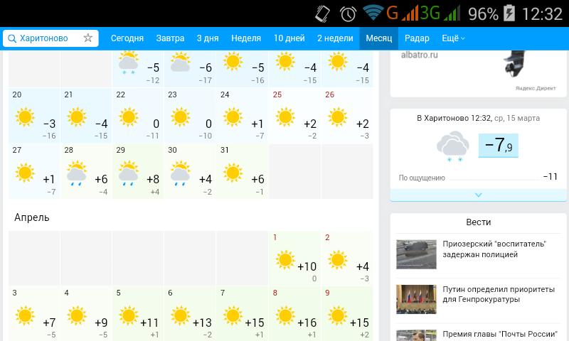 Погода егорьевске 5 дней
